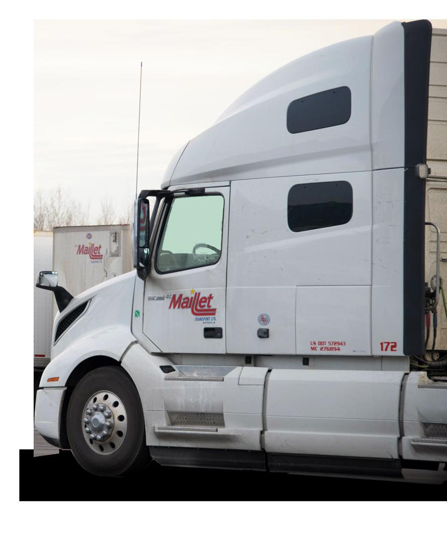 branded OC Maillet semi truck